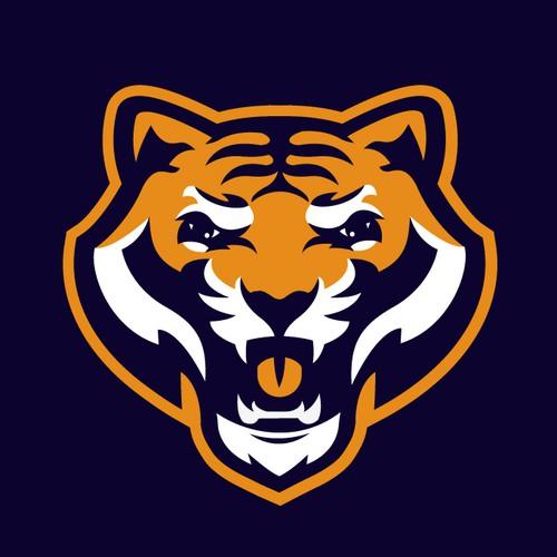 bold strong roaring tiger mascot