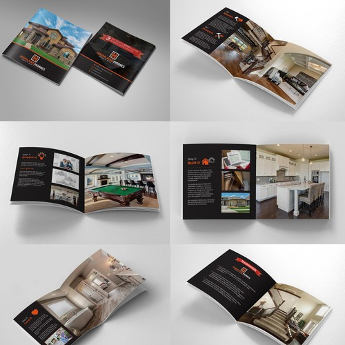 Square-Fold Brochure for Custom Home Builders