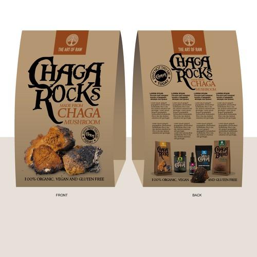 Table Promotion for Organic Chaga Mushroom Rocks