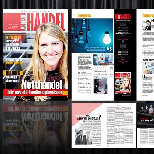 Magazine Cover and Layout Template