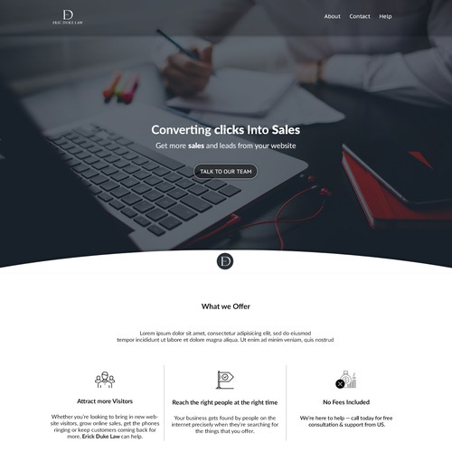 DUI Law Firm Landing Page