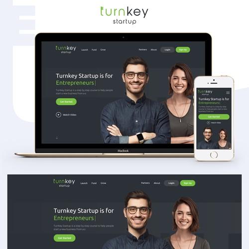Bold Web Design for Turnkey Startup