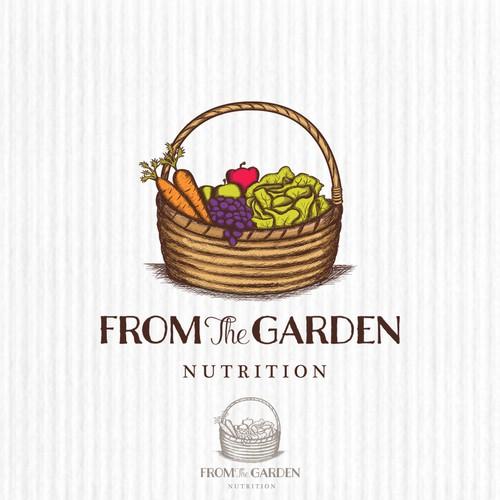 "Logo design concept for ""From The Garden Nutrition"""