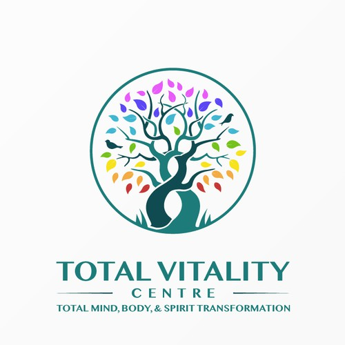 Design a vibrant and colorful logo concept for Total Vitality Centre
