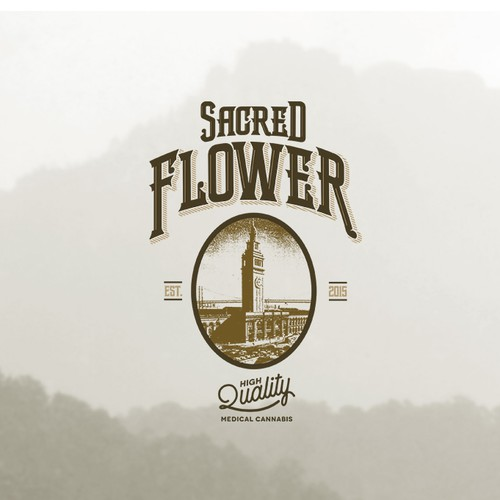 Vintage Logo for Sacred Flower