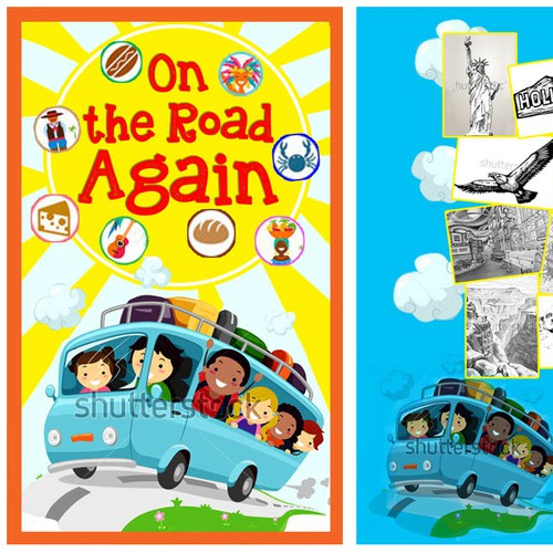 Design a Cover Page and an Opening Page for Children's Travel/Cook Book