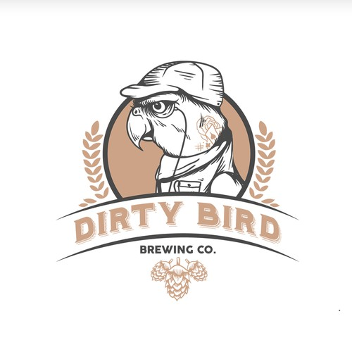 Dirty Bird Brewery - Vintage/Hipster Logo Illustration