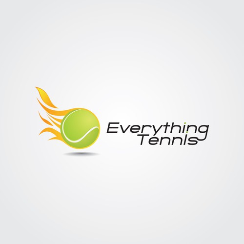 Tennis ball in flames