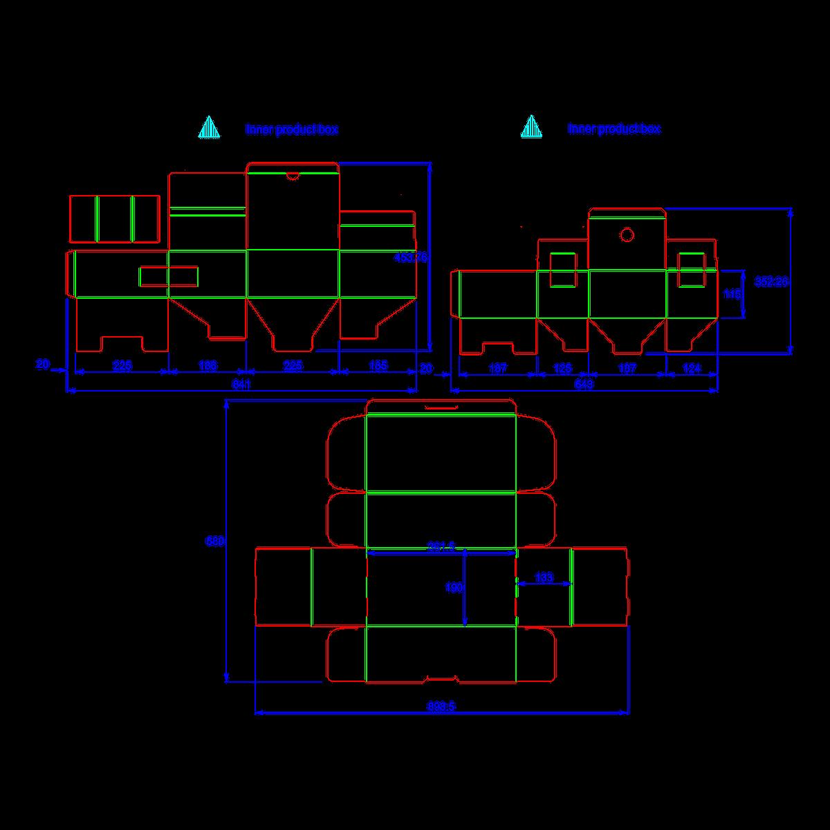 Dieline for Canister Set