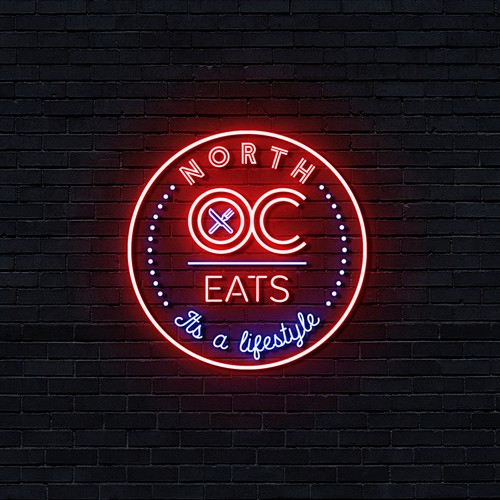 Neon food logo