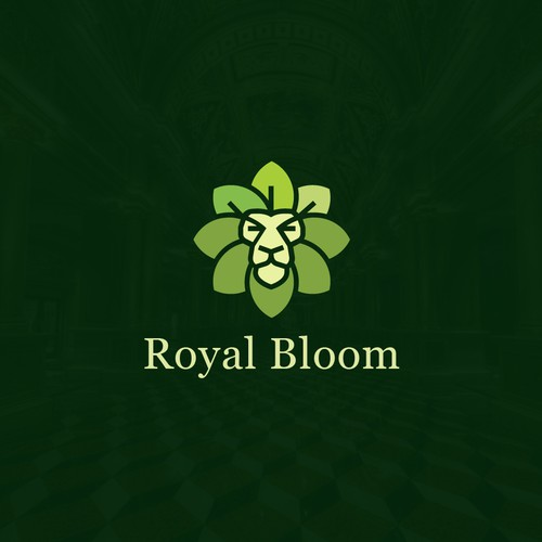 Lion Royal Bloom Logo