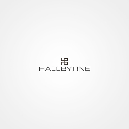 Create a high-end couture exciting fashion label logo for Hallbyrne