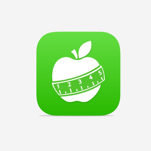 Awesome food diary app icon design