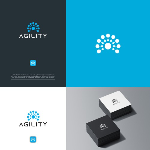 Logo concept for technology company