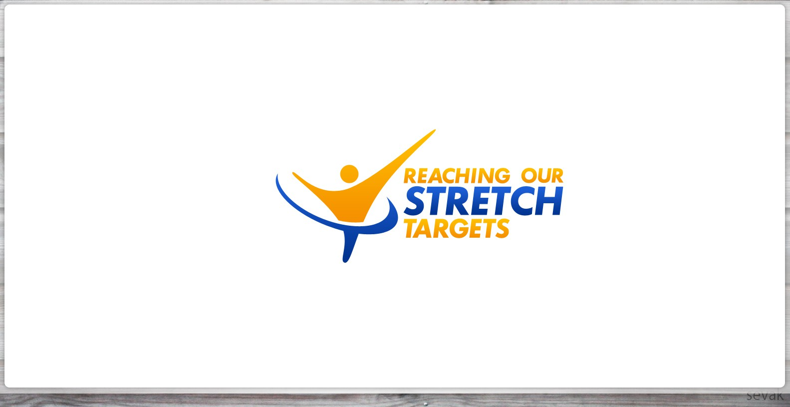 logo for corporate business health initiative promoting stretching