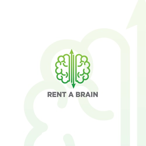 Rent A Brain Logo Concept