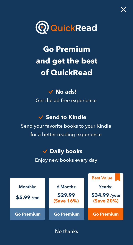 App design for book summary app
