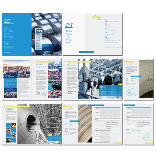 The Modern Minimalist Professional Catalog Design.
