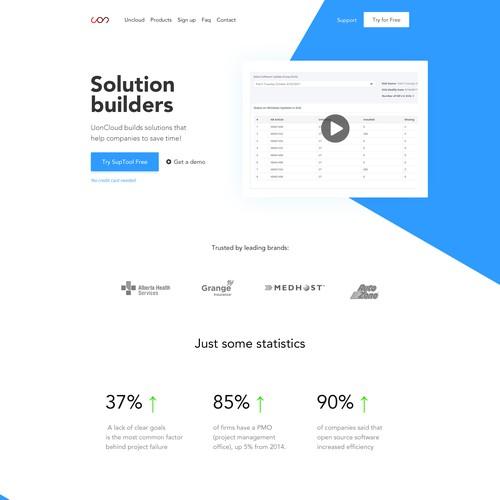 UonCloud website design