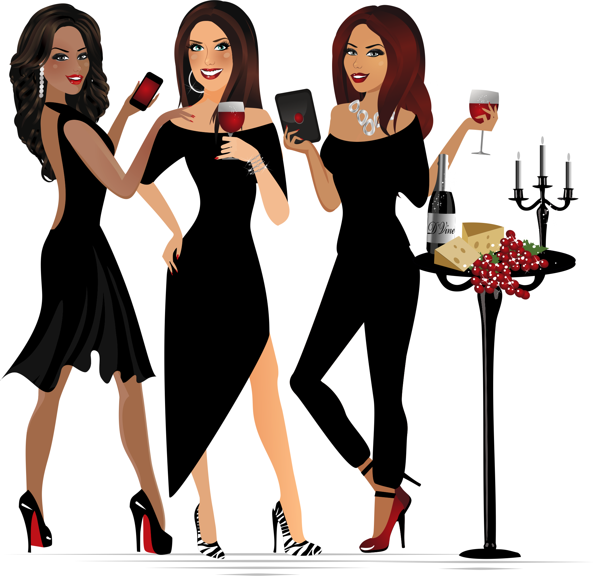 Create a sexy, sassy, and upscale brand image that conveys luxury experiences with wine & business connection