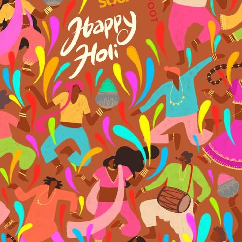 Happy Holi / invitation card