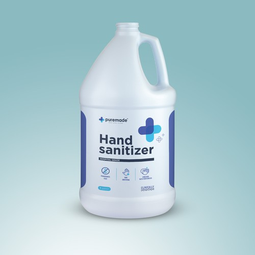 Hand sanitizer label design