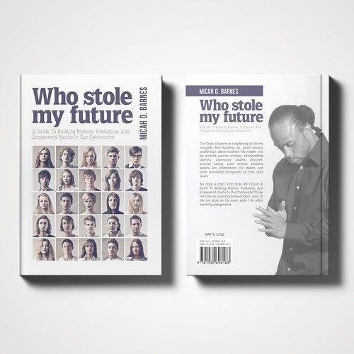Book cover for marketing tool for non-profit organization