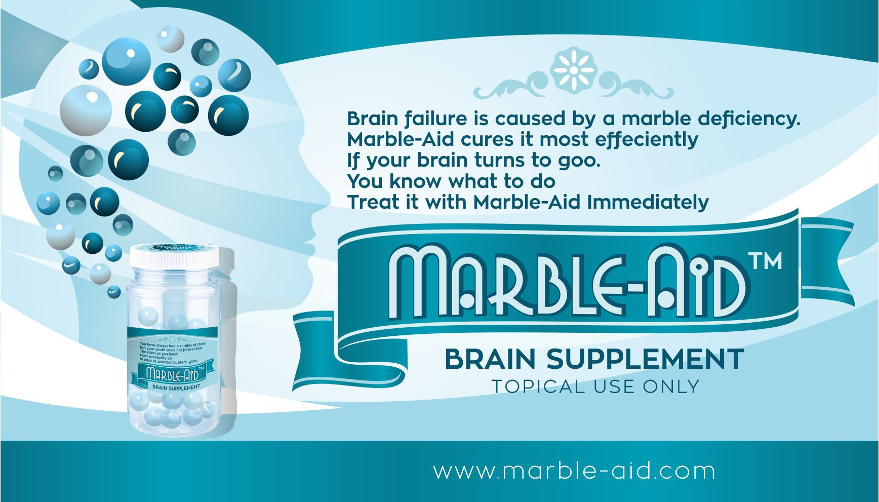 Label for Marble-Aid Brain Suppliment