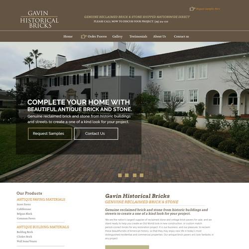Gavin Historical Bricks - Landing Page
