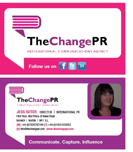 Create the next stationery for The Change PR