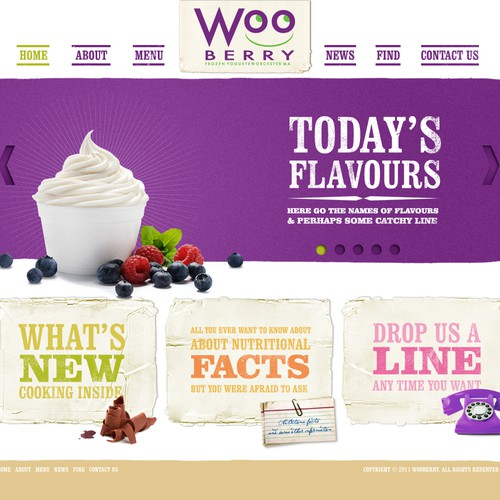 Help Wooberry Frozen Yogurt with a new website design