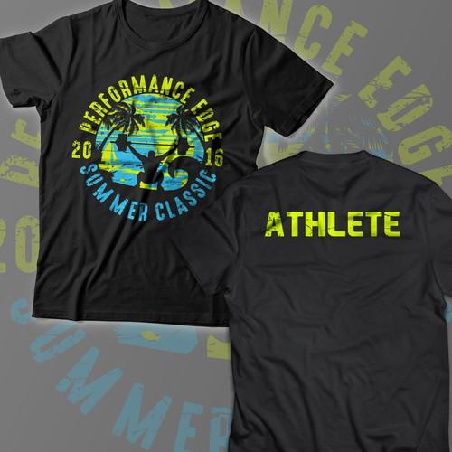T-shirt design for Performance edge summer classic 2016