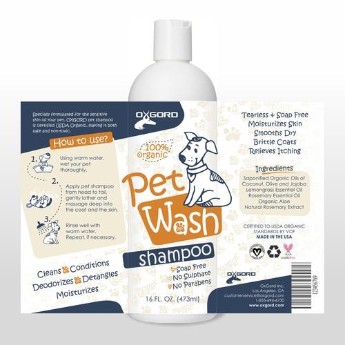 Dog Shampoo label