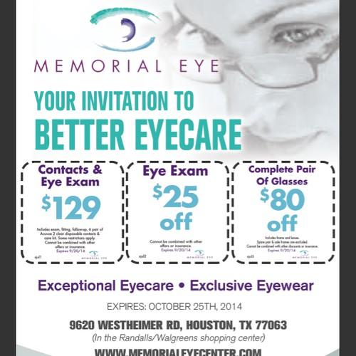 Create an ad for Memorial Eye