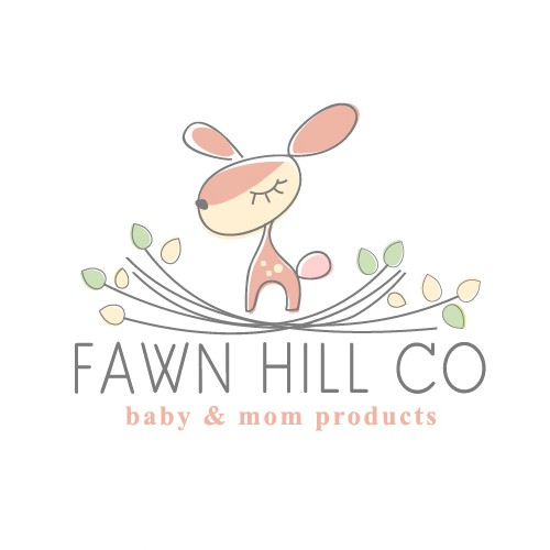 cute vintage logo design for baby products