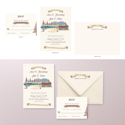 Lakeside Wedding invitation