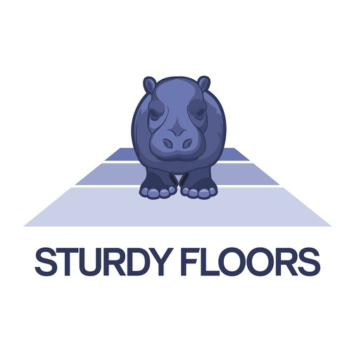 Logo for a flooring company