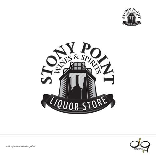 Logo design for a liquor store