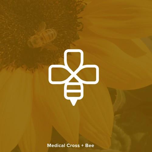 Line-art Bee Logo