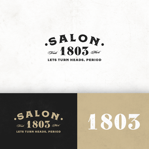 Logo Design Entry for Salon 1803