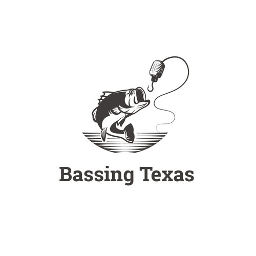 Logo for a Bass Fishing PodCast