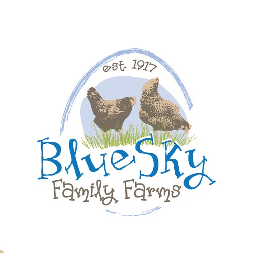 Blue Sky Family Farms needs a cool logo designed to sell Organic Eggs