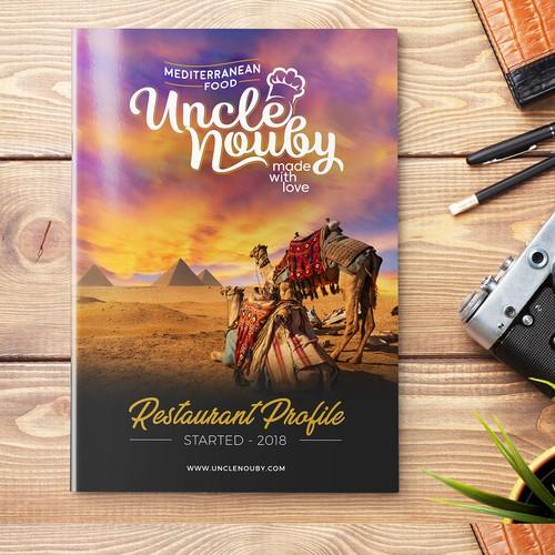 "Brochure for ""Uncle Nouby"" Restaurant in Egypt"