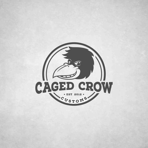 logo foe caged crow