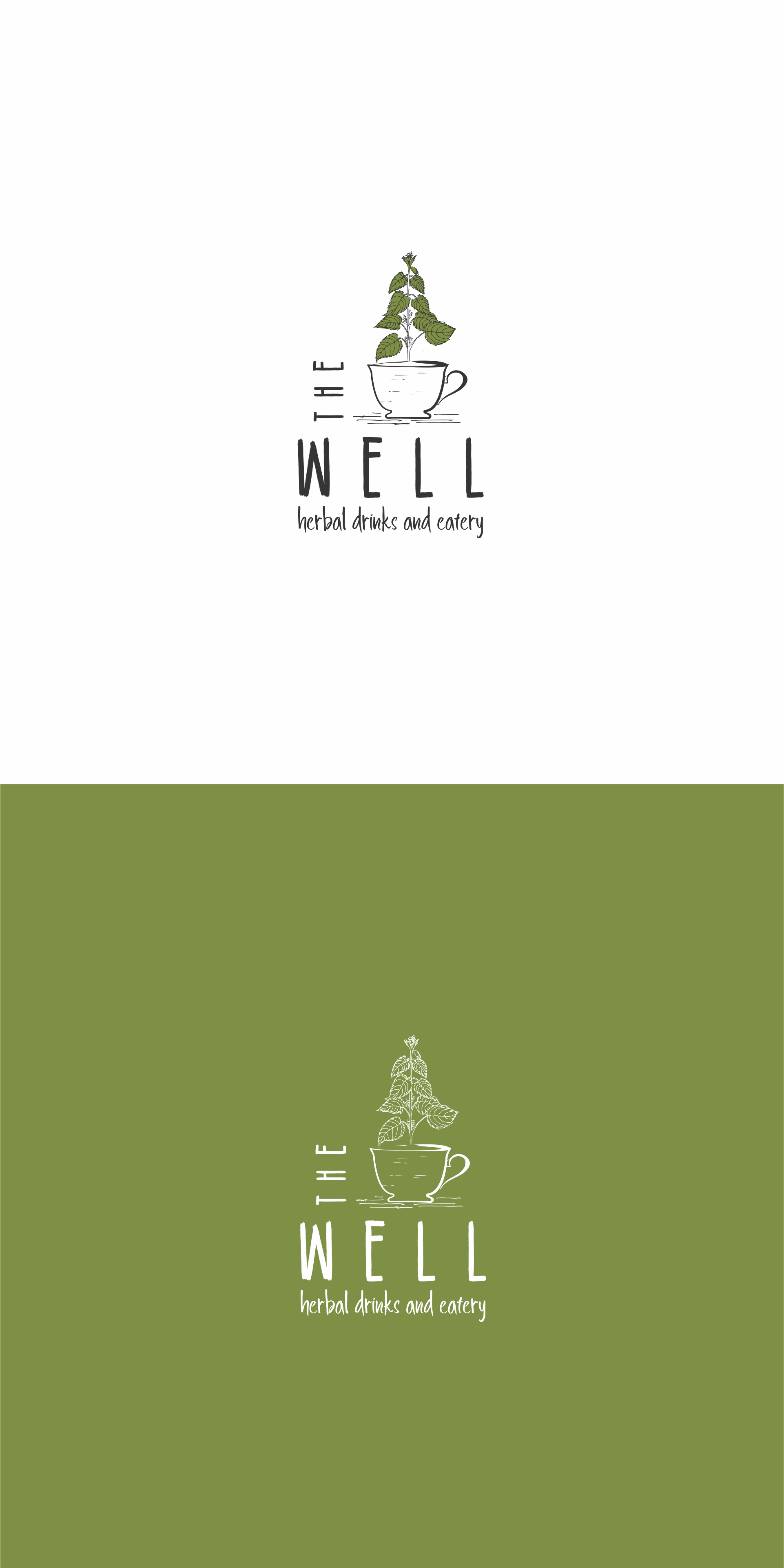 Design an organic, DIY logo for The Well, herbal cafe.
