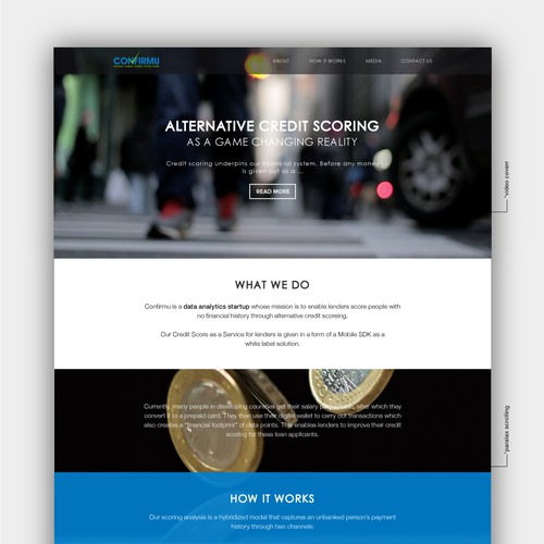 Credit Scoring Website Design