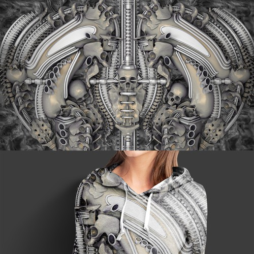 H.R. Giger's Nightmare: Clothing Print