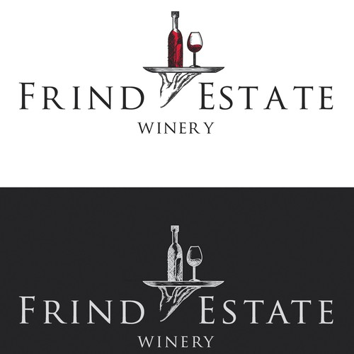 Vintage logo for winery