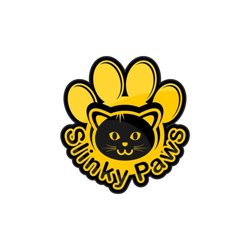 rejected logo for slinky paws