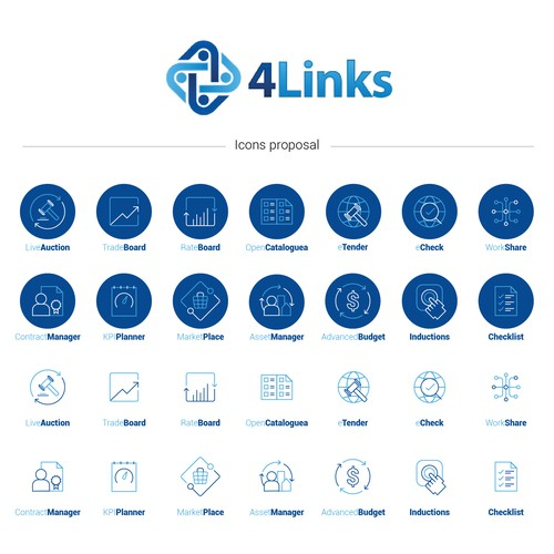 4Links Icons Design